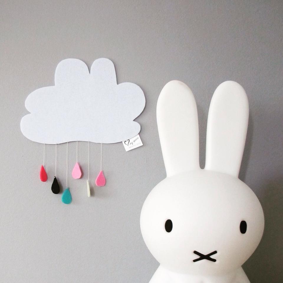 Luminária Coelha Miffy - Natural com Fio 45 cm