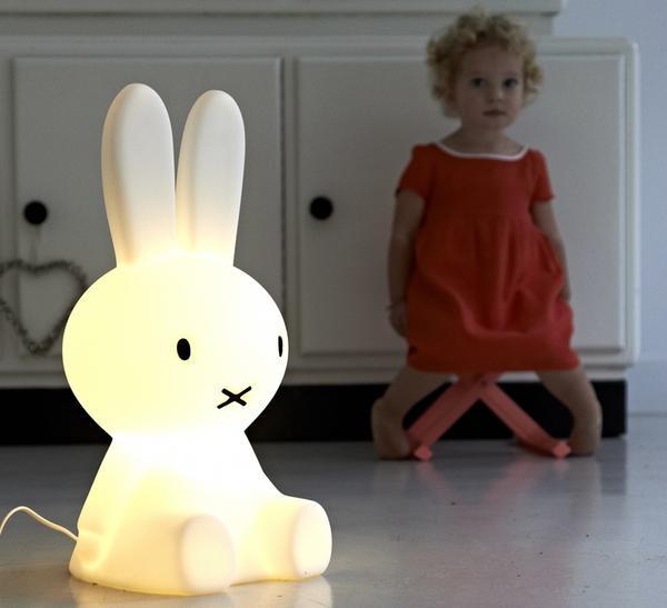 Luminária Coelha Miffy - LED com fio 45 cm