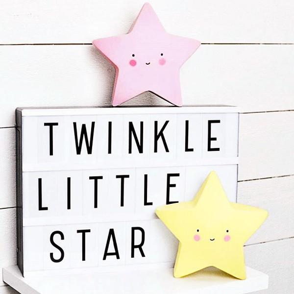 Luminária Infantil Estrela Rosa
