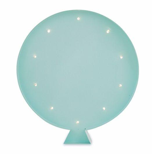 Luminária Infantil Balão - Menta (verde água)