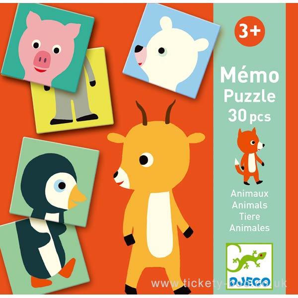 Jogo da Memória Memo Animo Puzzle Djeco