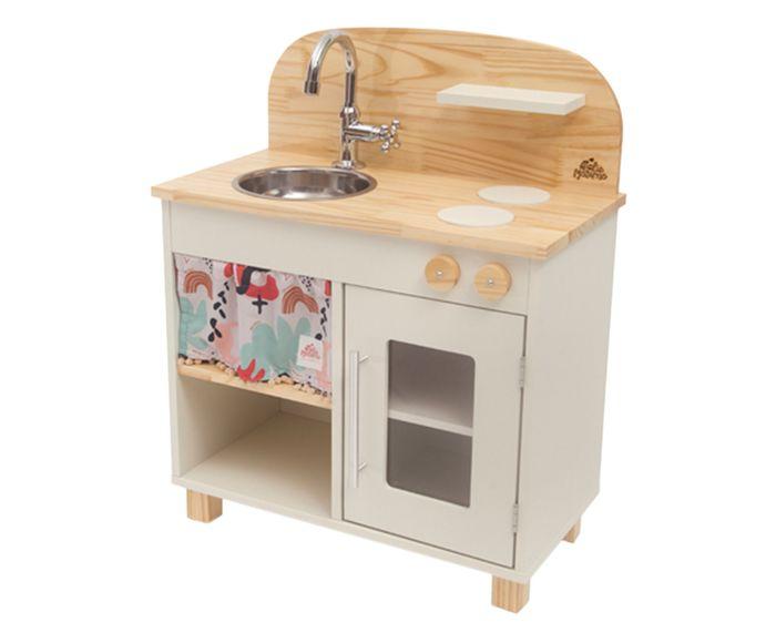 Cozinha de Madeira Infantil Ateliê Materno - Branca