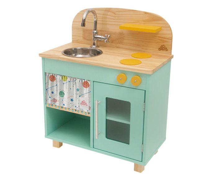 Cozinha de Madeira Infantil Ateliê Materno - Verde Menta