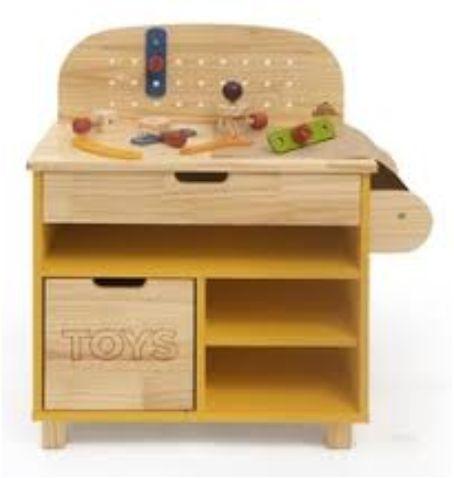 Mini Oficina Infantil em Madeira Ateliê Materno - Amarela