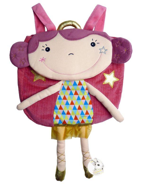 Mochila Infantil em Tecido Ebulobo - Circo - Betty, a Bailarina