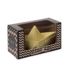 Mordedor Oli & Carol de Borracha Natural - Barquinho Origami Vanilla (baunilha)