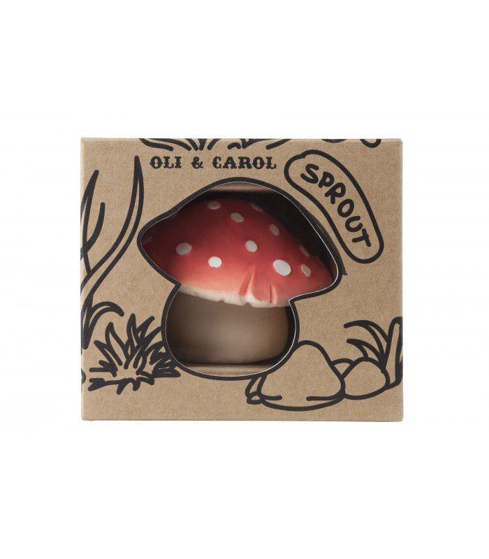 Mordedor Oli & Carol de Borracha Natural - Cogumelo