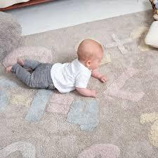 Tapete Lorena Canals Baby Números Cinza - 1.20 x 1.60 m