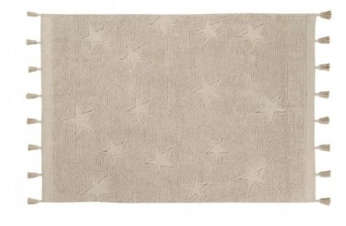 Tapete Lorena Canals Estrelas Hippy - Natural - 1.20 x 1.75 mts