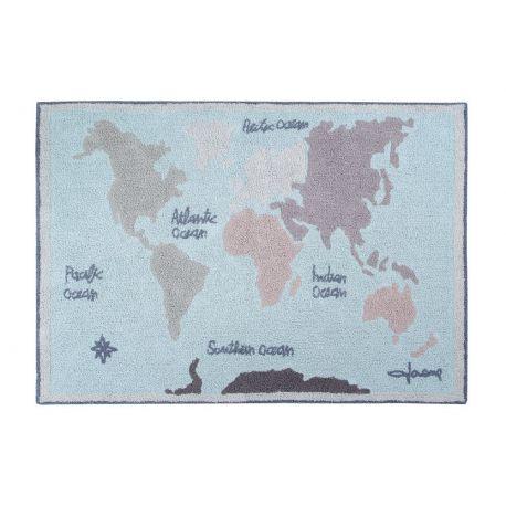 Tapete Lorena Canals Mapa Mundi Vintage - 1.40 x 2.00 m