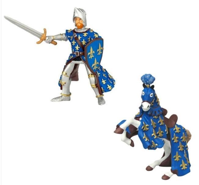 Papo Miniatura - Cavalo e Cavaleiro Azul