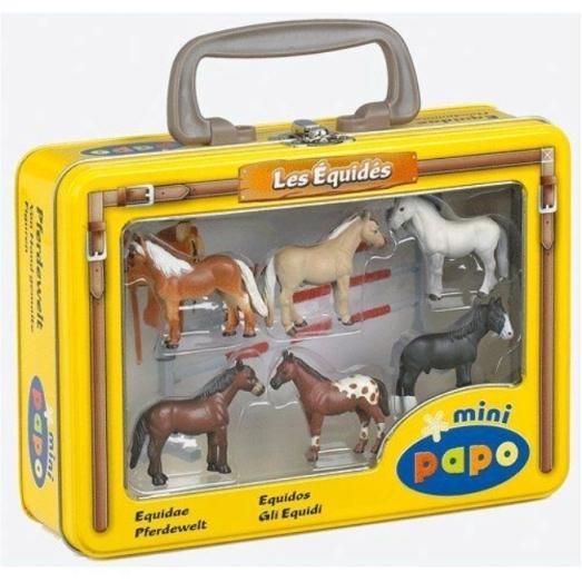 Papo - Maleta em Metal com Cavalos Miniatura