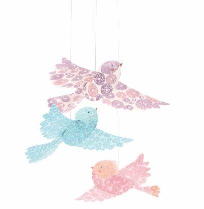 Móbile Djeco - Pássaros para pendurar