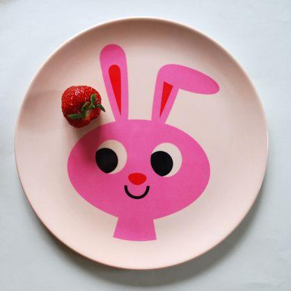 Prato (para alimentação ou para a parede!) Infantil Omm Design - Coelho