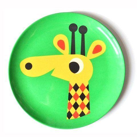 Prato (para alimentação ou para a parede!) Infantil Omm Design - Girafa