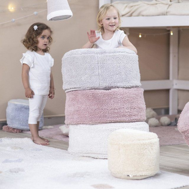 Puff Infantil Lorena Canals Chill Ivory 50 x 50 x 20 cm