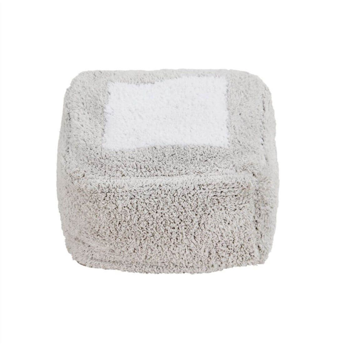 Puff Infantil Lorena Canals Marshmallow Cinza 30 x 39 x 18 cm