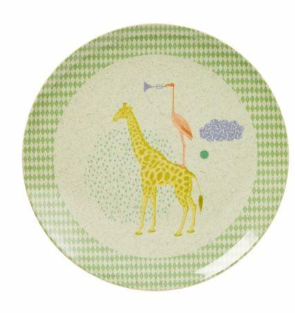 """Animals"" - Prato Raso em Melamina Rice - verde"