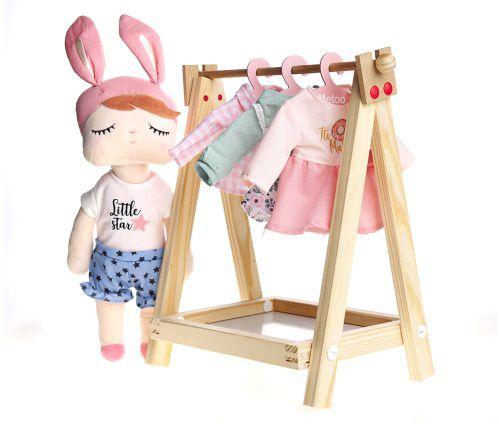 Roupa de Boneca Metoo - Pijama Rosa com Cabide