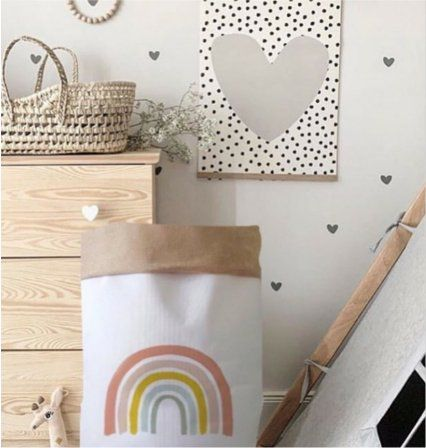 Saco Organizador Infantil para Brinquedos - Bag Arco-Íris