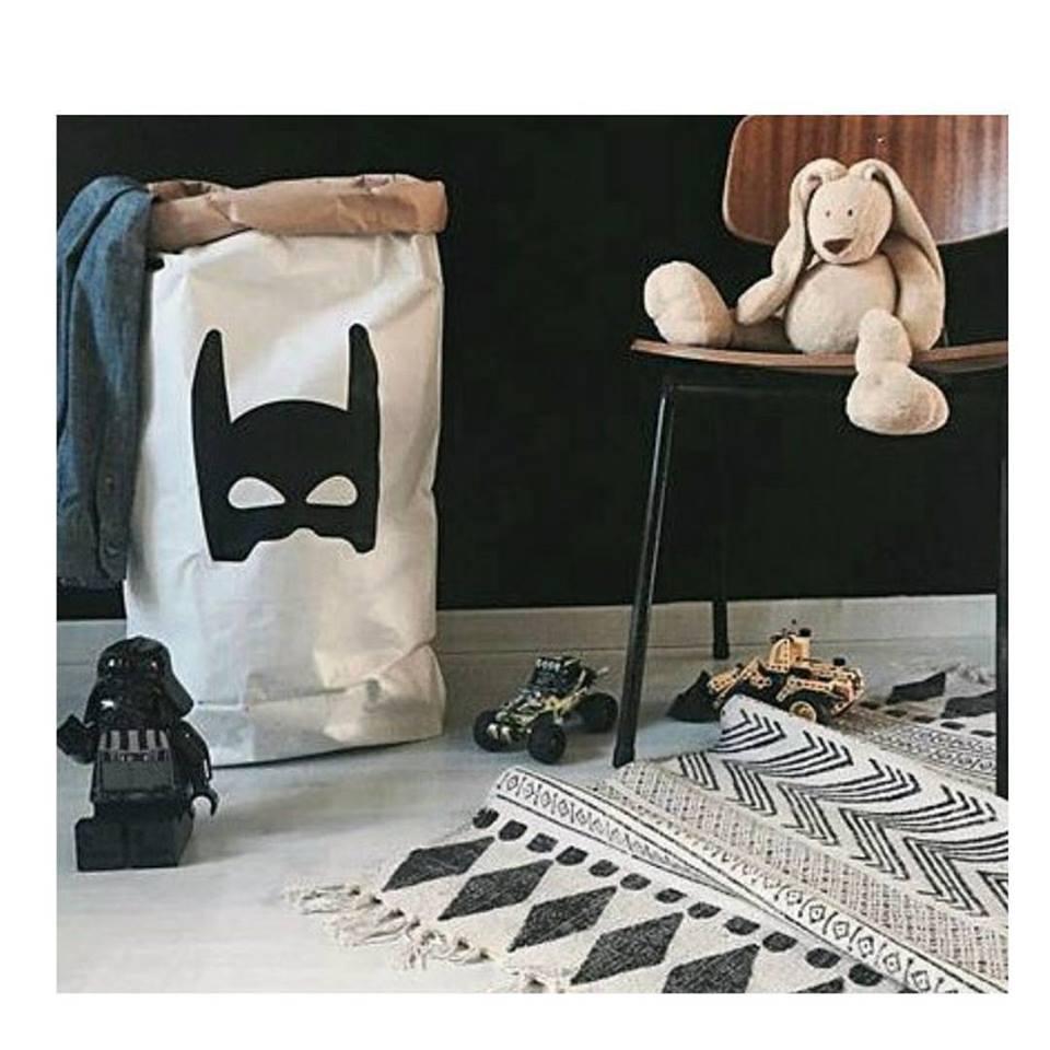Saco Organizador Infantil para Brinquedos - Bag Batman - 2 Tamanhos