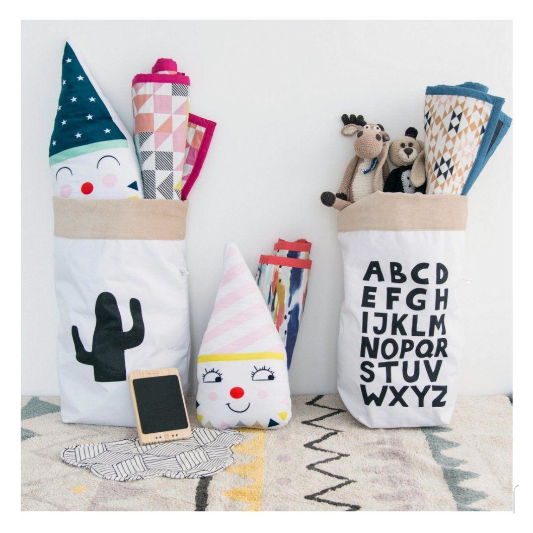 Saco Organizador Infantil para Brinquedos - Bag Cactus - 2 Tamanhos