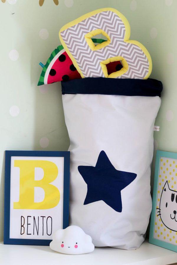 Saco Organizador Infantil para Brinquedos - Bag Estrela