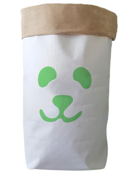 Saco Organizador Infantil para Brinquedos - Bag Panda Verde