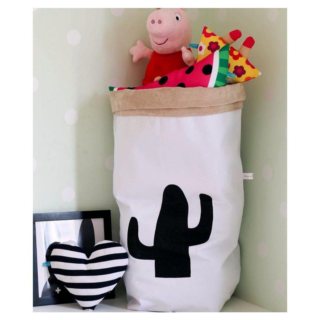 Saco Organizador Infantil para Brinquedos - Bag Cactus