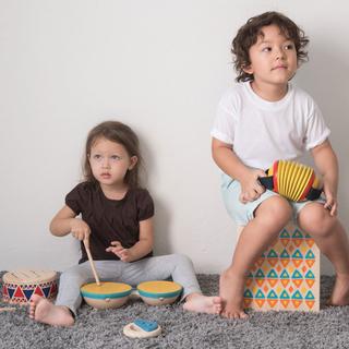 Tambor Duplo PlanToys Infantil em Madeira