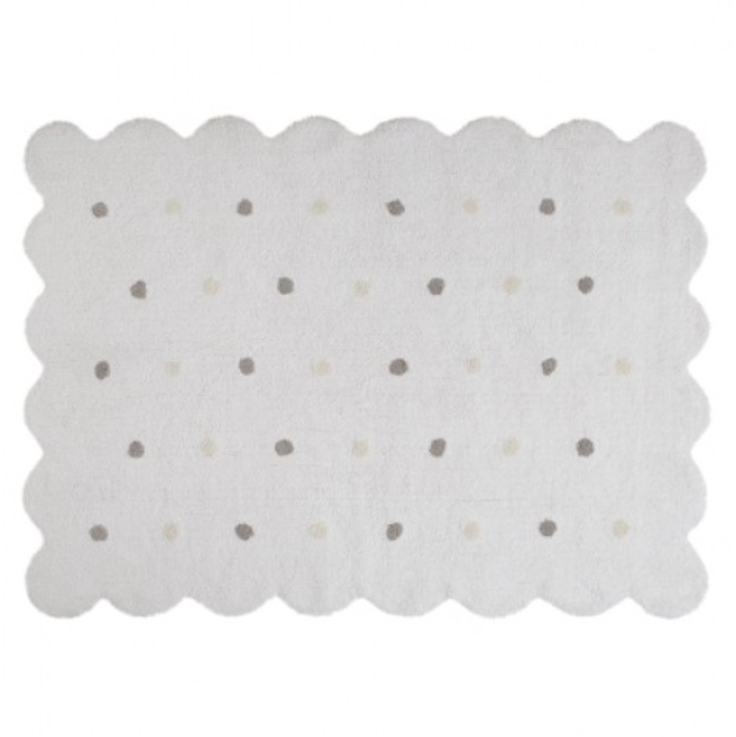 Tapete Lorena Canals Branco Galleta - 1.20 x 1.60 m