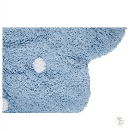 Tapete Lorena Canals Azul Redondo Galletita - 1.40 diam.