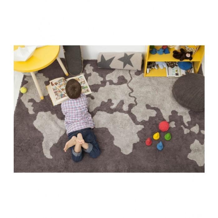 Tapete Lorena Canals Cinza - Mapa Mundi