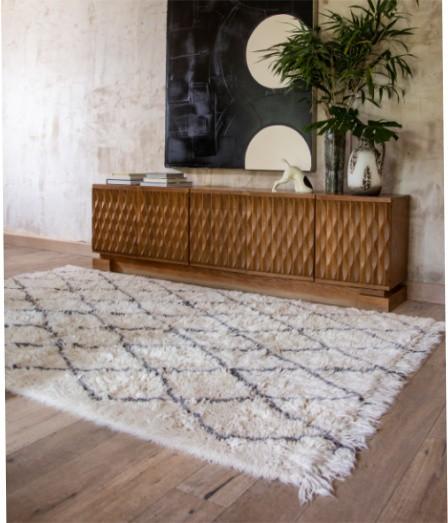 Tapete Lorena Canals Woolable em Lã Bereber Soul 200 x 140 cm