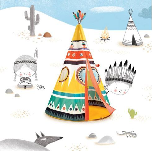 Cabana Djeco - Teepee Tenda de Índio