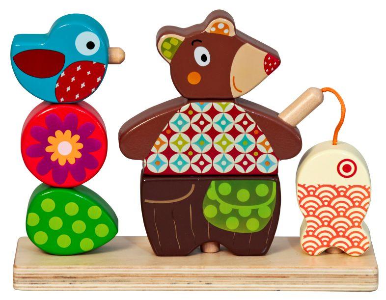 Woodours - Urso para Encaixe em Madeira - Ebulobo