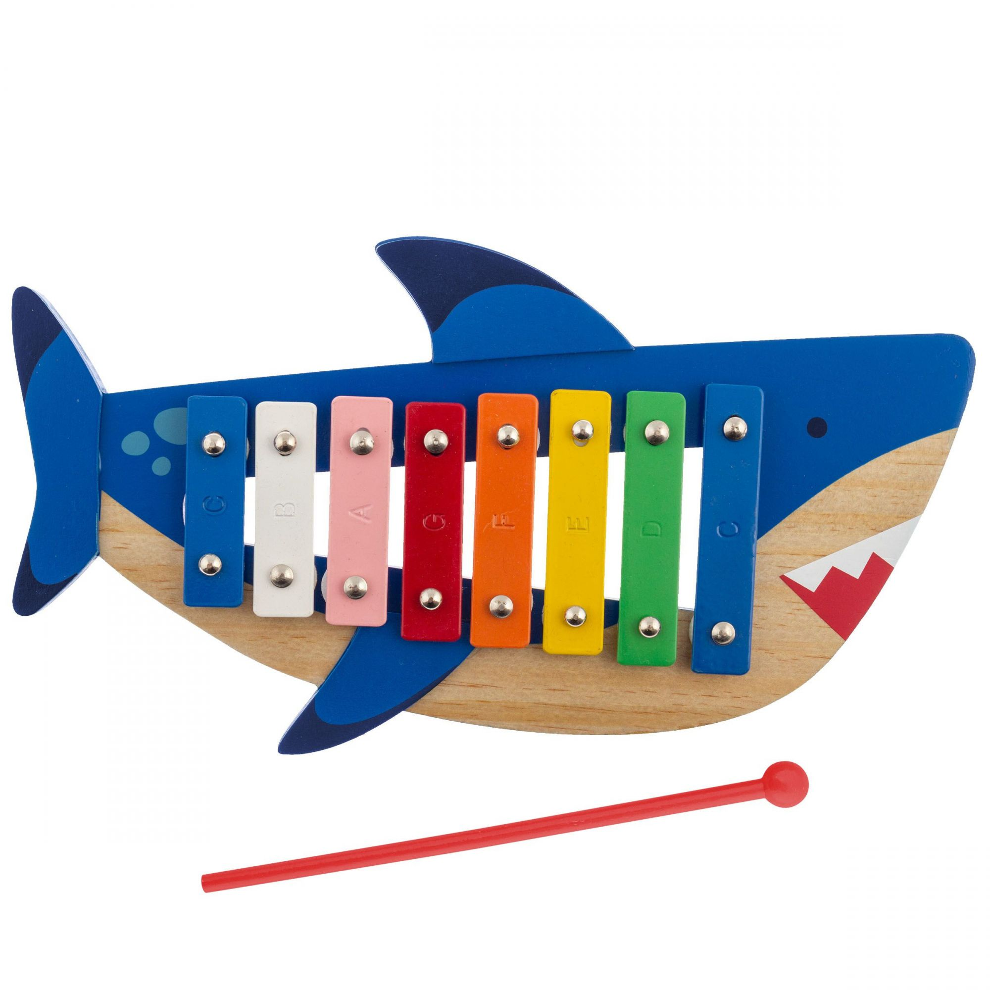 Xilofone Infantil em Madeira Stephen Joseph Tubarão