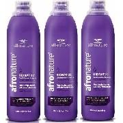 Hidrat 22 Leave In Creme de Pentear Sem Enxágue) 1000ml All Nature - Manutenção Para Cabelos Anelados, Cacheados, Crespos, Relaxados e com Permanente Afro - 3 Unids.