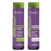 Shampoo e Condicionador de Jaborandi e Proteínas 300ml Afro Nature - All Nature