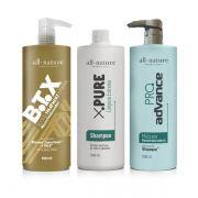 Escovas Progressivas All Nature, Advance Pro Complex, B T X Blond Controle Shampoo Limpeza Profunda