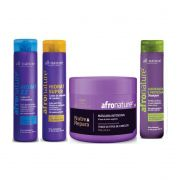 Hidrat 22 e Ativador Cachos Afro Nature + Máscara Capilar Intensiva e Shampoo de Jaborandi All Nature
