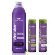 Hidrat 22 Leave In Cremede Pentear Sem Enxague 1000ml, Shampoo e Condicionador Jaborandi e Proteínas All Nature