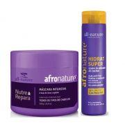 Mascara Capilar All Nature e Hidratante Super Ativador de Cachos Afro Nature