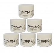 Máscara de Tratamento Intensivo à Base de Proteínas de Pérola que Trata Intensivamente os Fios, Para Cabelos Danificados e Pós Química, Triox 250g -6 Unid All Nature