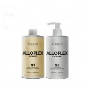 Passo nº 1 Alloplex Blocker + Passo nº 2 Crosslink All Natuire, Bloqueador de Danos Nas Descolorações Mechas, Luzes, Colorações e Demais Químicas