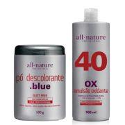 Pó Descolorante Blue e Oxidante Creme 900ml Nature Color All Nature  Estabilizado com fórmula suave que age em conjunto com a coloração garantindo o tom desejado - (10, 20, 30 e 40 Volumes) Escolha no