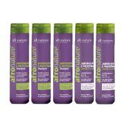 Shampoo de Jaborandi e Proteínas e Condicionador Afro Nature, Combate a Queda e Melhora o Crescimento All Nature  5 Unids. A Escolher