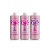 Shampoo Nature Care e Condicionador Com Argan e Macadâmia 1000ml  All Nature 3 unidades (A Escolher)