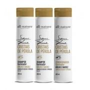 Semi Di Lino Shampoo e Condicionador Iluminador Cristais de Perola All Nature Para Cabelos Secos e Ressecados