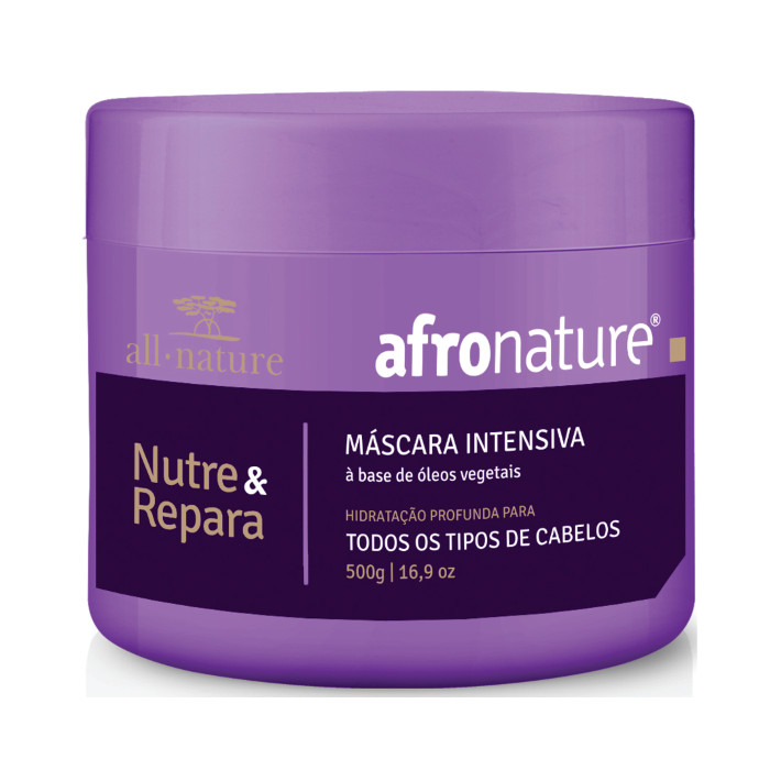 Afro Nature  Kit Relaxamento Capilar Afro e Máscara de Hidratação Intensiva  500g - All Nature